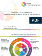 The Power of Partnerships - The Bulgarian National Patients' Organization