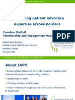 Facilitating Patient Advocacy Expertise Across Borders