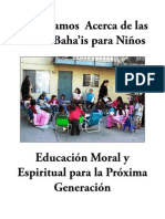 Learning About Bahai Childrens Classes - Spanish