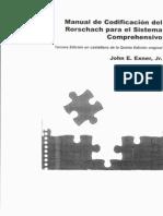 Manual Rorschach sistema de codificación EXNER