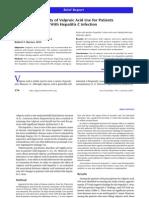 Valproic Acid Use in Hep c