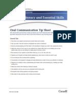 Oral Communication Tip Sheet