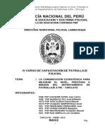La Comunicacion Estrategica Para Mejorar El Nivel, Prestigio e Imagen Del Departamento de Patrullaje a Pie Chiclayo