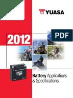 2012 Yuasa Apps Specs