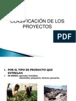 Clasificacion de Los Proyectos