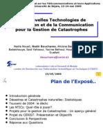 Les Nouvelles Technologies de l'Information et de la Communication pour la Gestion de Catastrophes