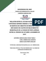 2010 Relación Estado Nutricional