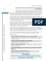 Nota de Prensa Postura 13