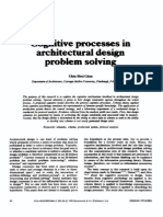 Cognitive Processes in Architectural Design