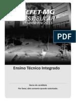 Prova Integrado 1 2013