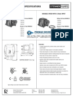 Stenner SVP4 With Analog Input Series Peristaltic Metering Pump Spec Sheet