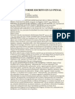 Modelo Informe Escrito en Lo Penal