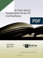 El Libro de Texto Ante Las TIC