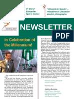 Lithuanian sports newsletter 2009