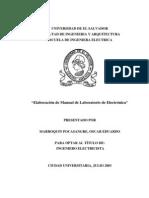 Elaboracion de Manual de Laboratorio de Electronica