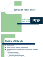 Syntax Tonal Music