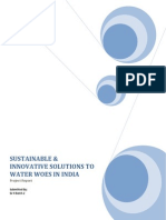 Business solutions to water waoes in India.docx