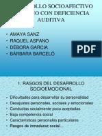 Desarrollo Socioafectivo Del Nic3b1o Con Def Auditiva
