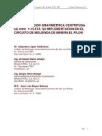 Concentracion Centrifuga Oro Plata