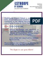 New School Opening Flyer