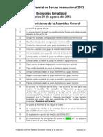 SI GA2012 Decisions (Spa)