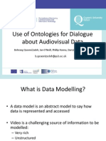 Use of Ontologies for Dialogue about Audiovisual Data