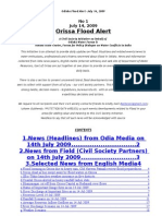 Orissa Flood Alert Jul 14 09