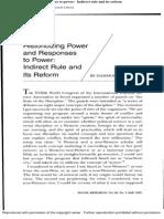 Historicizing Power - Mahmood Mamdani
