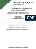 China e as Regioes Em Desenvolvimento