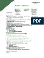 Penicilinas y Cefalosporinas Resumen