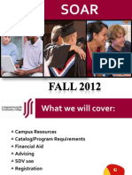 soar advising presentation for fall 2012