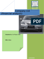 indus motor company ltd (financial analysis)
