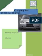 indus motor company ltd (financial analysis)