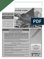 Cespe 2012 Agu Advogado Prova