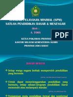 Standar Pelayanan Minimal SD SMP