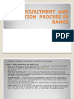 Recuritment and Selection Process in Banks
