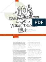 The Ten and a Half Commandments of Visual Thinking