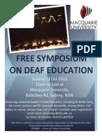 Free Symposium on Deaf Education
