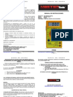 Manual MultimetroDT830B