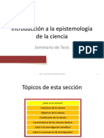 Introducción a la epistemología de la ciencia