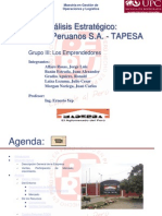Analisis Estrategico TAPESA