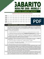 Gabarito Comentado Prova PRF Modelo1