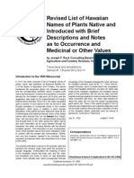 Revised List of Hawaiian Names of Plants Native and Introduced with Brief Descriptions and Notes as to Occurrence and Medicinal or Other Values.