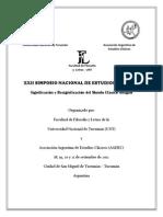 2ºcircular XXII SNEC en Tucumán