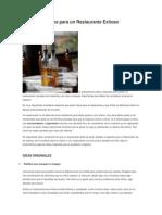 Ideas y Consejos Para Un Restaurante Exitoso