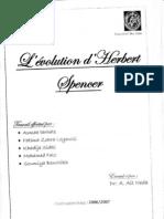 Sociologie - L'évolution d'Herbert Spencer
