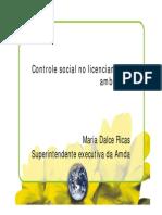Controle Social No Licenciamento Ambiental