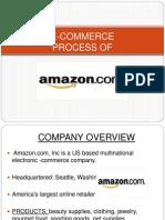 E-commerce process of amazon.com