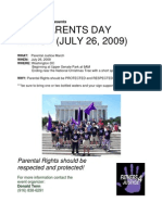 Fathers Justice Flyer 2009