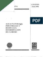 COVENIN 3141-95 Determinacion de Cloruro
